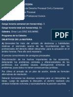 Procesal Civil (Programa)