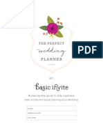 The Perfect Wedding Planner - Basic Invite