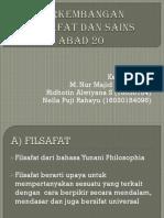 Perkembangan Filsafat Dan Sains Abad 20