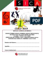 Cuadernillo 1er Grado 2019