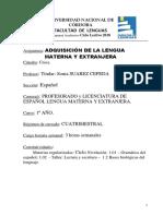 Adquisicion Lengua Materna y Extranjera Espanol