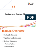 Modulo3_Backup and Restore DB