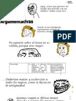 ejercicios argumentos