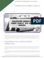 ▷ EVALUACIÓN FORMATIVA (CNEB Y RVM N° 025-2019-MINEDU) → Norma actualizada 2019
