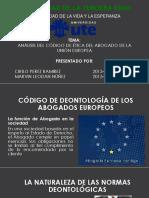 Diapositiva Sobre Análisis Del Código de Ética Del Abogado de La Unión Europea
