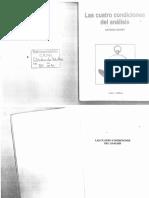 Quinet, Antonio - Las cuatro condiciones del analisis (1991).pdf