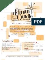 Roman Candle Williamson Menu