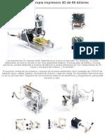 Fabrica Tu Propia Impresora 3D de 60 Dólares
