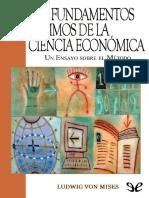 Los Fundamentos Ultimos de La Ciencia Economica Ludwig Von Mises 1-37
