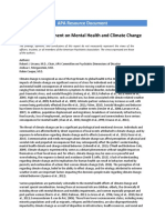 2017 Resource Document Mental Health Climate Change