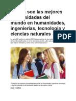 Cuáles Son Las Mejores Universidades Del Mundo en Humanidades