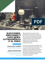 Constanza Paredes y Jorge Arrunátegui Elecciones Emociones y Fake News