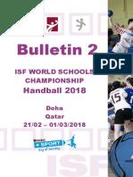 Isf Wsc Handball 2018 - Bulletin 2 0