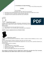 Fundamentos Teóricos e Metodológicos de Língua Portuguesa Dinâmica Dos Chapéus