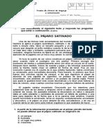 Prueba de Síntesis de Lenguaje y Comunicación I Semestre.