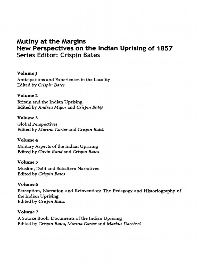 Mutiny on the Margins 1 pdf | Indian Rebellion Of 1857