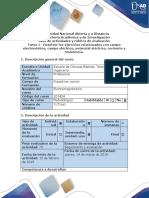 Guía de actividades y rúbrica de evaluación - Tarea 1 - Fundamentos de campo electrostático.docx
