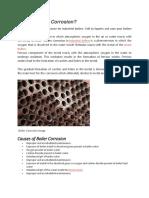 Boiler Corrosion