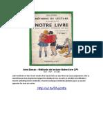 Inès Bonan - Méthode de Lecture Notre Livre 1933-1947