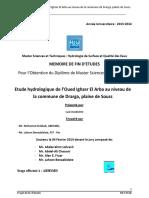 Etude hydrologique de l'Oued I - OUABDERH Said_1494.pdf