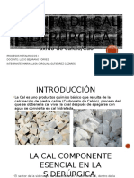 producción de cal siderurgia