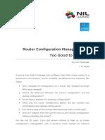 Router Configuration Management .