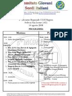 ufficiale programma sede agrigento 5° Incontro reg le sicilia 14-08-2008