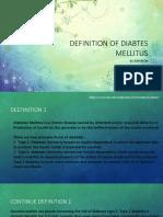 Definition of Diabtes Mellitus (2)