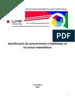 2 Identificación de Conocimientos y Habilidades en Las Tareas Matemáticas Final Min