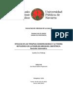 EFICACIA DE LAS TERAPIAS CONSERVADORAS Y LA TOXINA BOTULÍNICA EN LA PARÁLISIS BRAQUIAL OBSTÉTRICA.