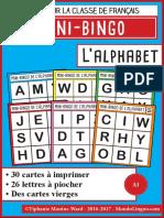 MondoLinguo MiniBingo Alphabet
