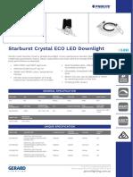 Starburst Crystal ECO LED Downlight