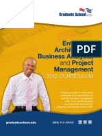 Enterprise Architecture, Business Analysis & Project Management Curriculum Brochure