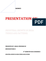 Industrial Growth in India
