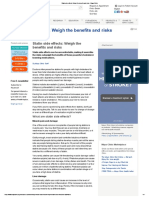 Statin Side Effects_ Weigh the Benefits and Risks - Mayo Clinic
