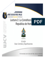 Lectura 2 La Constitucion de La Republica de Honduras