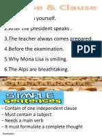 Sentences- ENGLISH LESSON-TOEFL PREPARATION