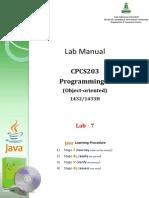 Lab Exercises - JAVA