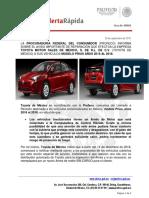 Profeco alerta Prius 2016-2018