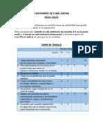 Cuestionario de Clima Laboral118888