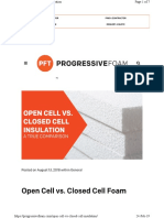 open vs closed Cell Duct insulations