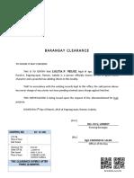 Barangay Clearance 2019