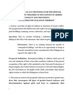 Interpellation Questions on Children in Armed Conflict Bill