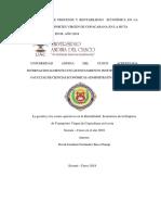 La Direccion de Procesos y Rentabilidad Económica en La Empresa de Transportes Virgen de Copacabana en La Ruta