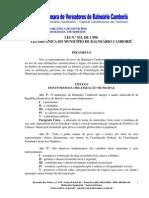 Cmvbc Lei 933 90 Lei Organica