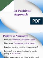 8) Post-positivist Approach