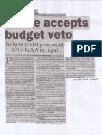 Manila Bulletin, Mar. 11, 2019, House accepts budget veto.pdf