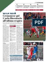 a Provincia Di Cremona 11-03-2019 - Su La Testa
