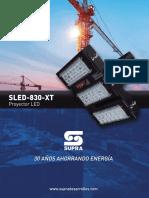 Especificacion SLED 830 XT
