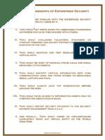 Ten Commandments of Enterprise Security